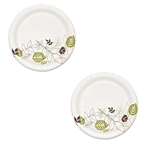 Dixie Ultra SXP6WS Pathways Soak Proof Shield Heavyweight Paper Plates, 5 7/8', Pack of 2, Total 1000 Plates