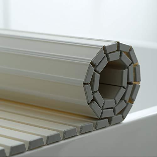 Badewanne Abdeckung Anti-Staub Folding Staub Brett Badewanne Schutzabdeckung PVC Weiß (Size : 160 * 75 * 1.2cm)