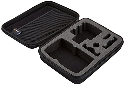 GoPro Protective Housing for Hero8 Black (Official Accessory), Clear & Amazon Basics GoPro Carrying Case - Small