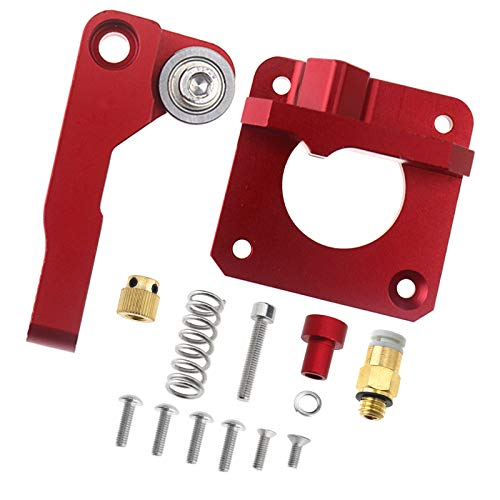 ENET MK8 Extruder Drive RED Right Hand 3D Printer geüpgraded Vervang Aluminium Frame Block Feed Base voor CR-10 Series 1.75mm filament