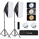 YICOE Softbox Lighting Kit Photography Photo Studio Equipment Continuous Lighting System with 5700K Energy Saving Light Bulb for Portraits Fashion Advertising Photo Shooting YouTube Video