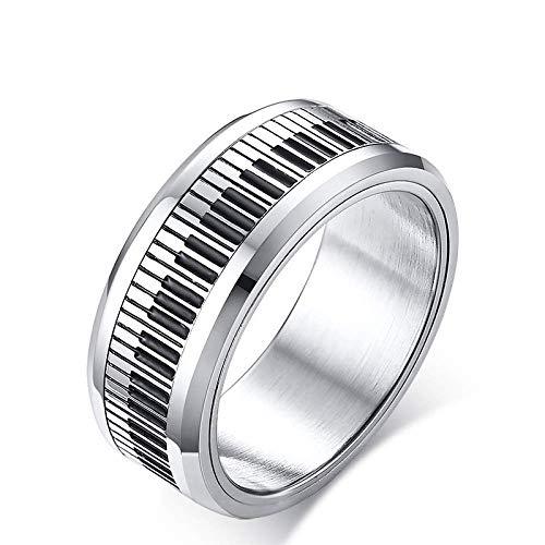 YF Ringen Sport Fans Collectie Ring Draaibare Piano Sleutel Hoge Kwaliteit Legering Ring voor Mannen Vrouwen Perfect Gift 9 Afbeelding