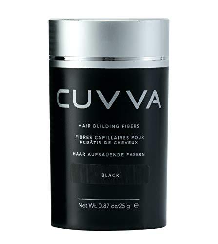 CUVVA Hair Fibers - Hair Loss Concealer for Thinning Hair - Keratin Hair Building Fibers Will Instantly Make Thin Hair Look Thicker - 0.87oz - Black