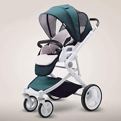 BESTPRVA Portátil cochecito de bebé del carro de bebé del cochecito del cochecito de bebé, cochecito convertible reclinable, plegable y portátil del cochecito de niño del bastidor del carro antichoque