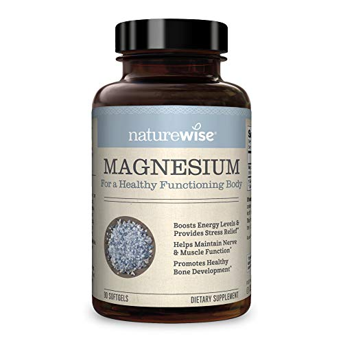 NatureWise Magnesium Essential Mineral Supplement for Blood Pressure, Mood, and Migraine Support, Natural Aquamin Magnesium Supplement from Seawater (Packaging May Vary) [1 Month Supply – 90 Softgels]