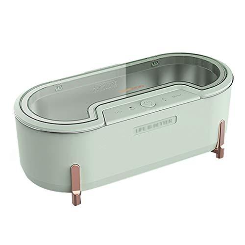 QIDIAN Limpiador ultrasónico, máquina Limpia de ultrasonido eléctrico para joyería, Anillos, anteojos, Lentes, dentaduras, Relojes,Verde