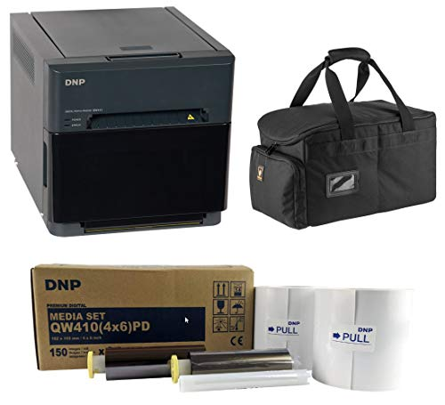 DNP QW410 4.5-inch Dye-Sublimation Professional Event Photo Booth Printer Essential Bundle with...