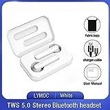 MLIU TWS Senza Fili Auricolari Bluetooth 5.0 Auricolari Worktime 4Hrs Touch Auricolari Stereo delle Cuffie con Microfono for iOS e Android (Color : White Fabric Bag)