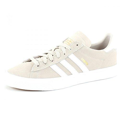 adidas Campus Vulc II, Zapatillas de Skateboard para Hombre, Blanco (Cwhite/Ftwwht/Gold MT Cwhite/Ftwwht/Gold MT), 43 1/3 EU