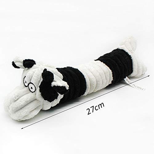Gouen Kattenspeelgoed Elephan Pig Pet Chew Toys voor kleine honden Tanden reinigen Puppy Hondenspeelgoed Huisdieren Accessoires voor dieren Benodigdheden, Witte koe, S