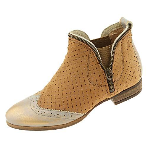 Damesschoenen Coque Terra laarzen bruin brons 14381302 + schoenpoetshandschoen