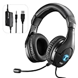 Gaming Headset with Mic for PC, Lightweight,...