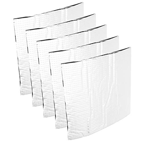 Self‑Adhesive Insulation Cotton Mat Foil Thermal Insulation Mat Foil Cotton Heat Insulation Mat, Thermal Insulation Mat, for 3D Printer Platform Heatbed Home(220 * 220mm)