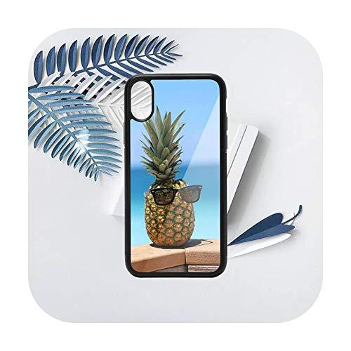 Verano fruta piña patrón teléfono caso PC para iPhone 11 12 pro XS MAX 8 7 6 6S Plus X 5S SE 2020 XR-a7-iPhoneXSMAX