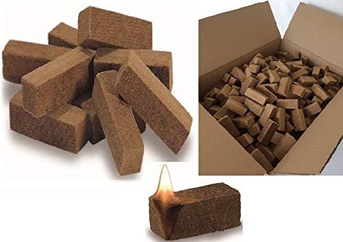 Stumpf 1000 Grillanzünder Holz Kaminanzünder Anzündwürfel aus Naturholz mit Wachs