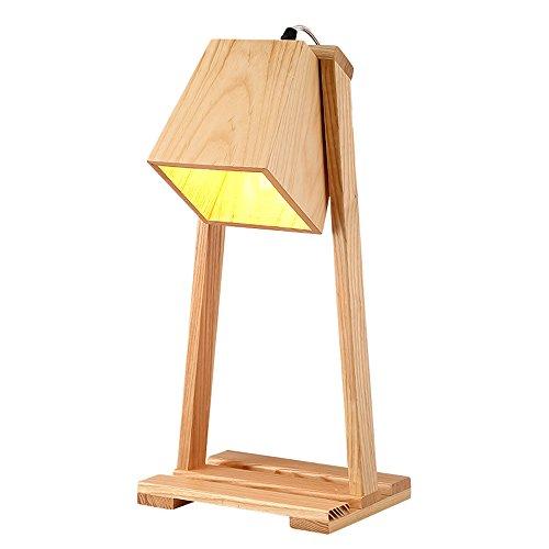 Tafellamp van hout, decoratieve schommel knutselen creatieve tafellamp café restaurant studie woonkamer slaapkamer bedlampje tafellamp verlichting