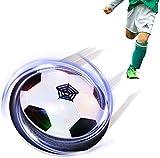Maxesla Juguete Balón de Fútbol Flotante - Air Power Soccer con Protectores de Espuma Suave y Luces LED, for Kids,Boys,Regalos Cumpleaños Niños Entrenamiento Interior Niños Deportes