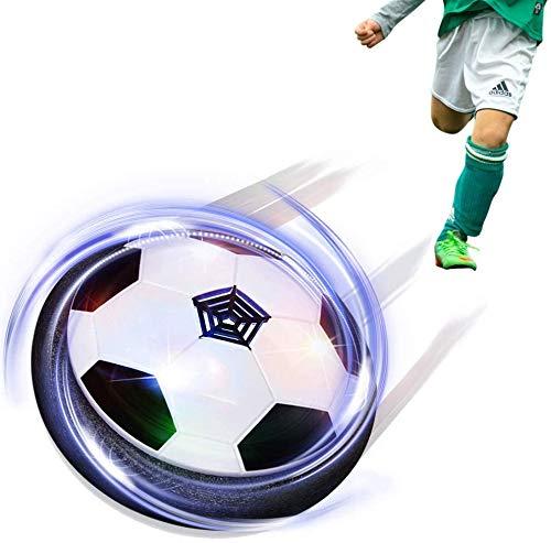 Maxesla Pallone Calcio Fluttuante Air Hover Calcio con LED Luce Air Power Soccer Disc da Allenamento in Schiuma Morbida Paraurti per Indoor & Outdoor, Giocattoli Sportivi per Bambini