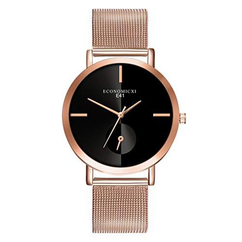 Hzing Damenuhr Armbanduhr Analog Quarz Einfache Edelstahl Armband Ultra Dünn Beiläufig Kleid Uhr für Frauen