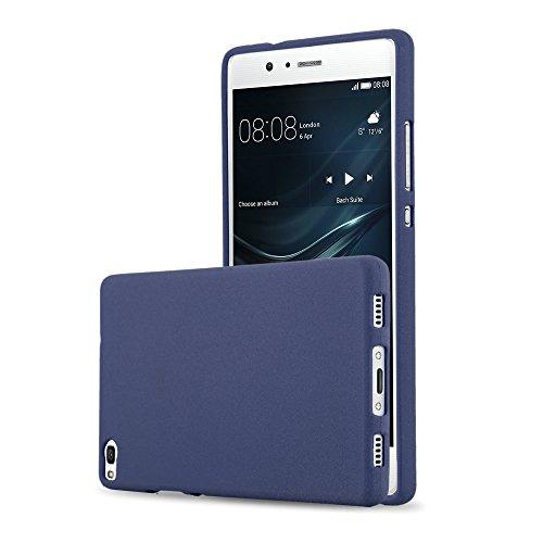 Cadorabo Funda para Huawei P8 en Frost Azul Oscuro - Cubierta Proteccíon de...