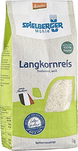 Spielberger Bio Langkornreis, Thaibonnet, weiß, demeter (1 x 1 kg)
