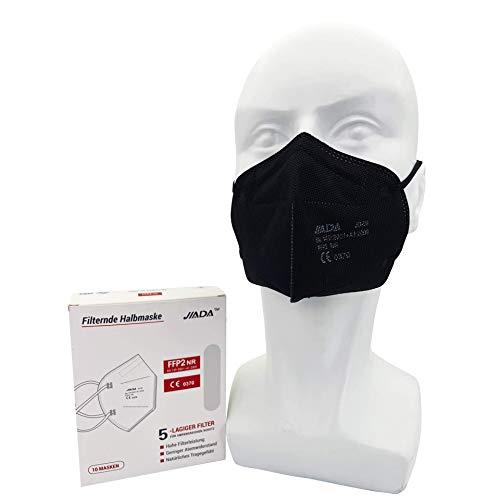 Tradeforth GmbH 20x FFP2 Schutzmaske in Schwarz - 5-Lagig - CE0370 - Dermatest: SEHR GUT
