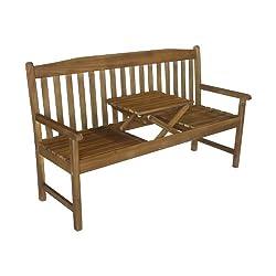 Colombo 3-Sitzer Gartenbank mit Tisch