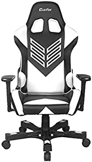 "CLUTCH CHAIRZ Crank Series ""Onylight Edition"" World's Best Gaming Chair (Black/White) Racing Bucket Seat Gaming Chairs Computer Chair Esports Chair Executive Office Chair w/Lumbar Support Pillows"