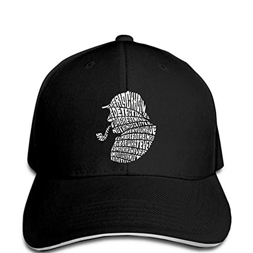 Gorra de béisbol para hombre, gorra de béisbol Sherlock Holmes, texto impreso en tubo, detective Funny Hat Odd Hat Lady negro histésico, ajustable, informal, hip hop, divertido al aire libre
