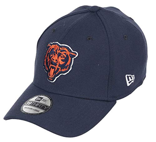 New Era Chicago Bears 39thirty Stretch Cap NFL Core Edition Blue -...