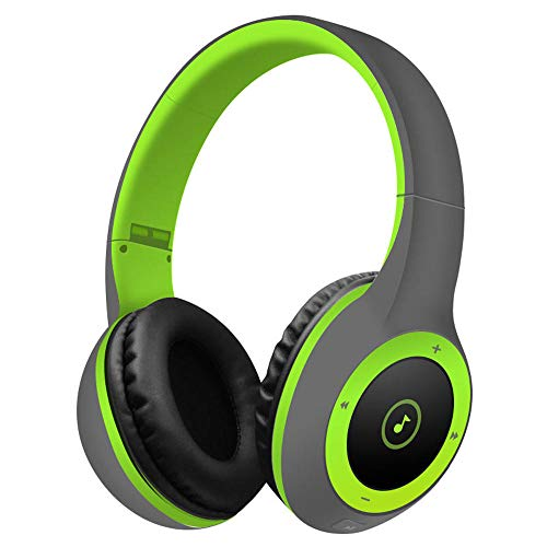 Best Shopper - T8 Stereo Bluetooth Over- Ear Headphones Wireless Folding Gaming Headset with Microphone - Green