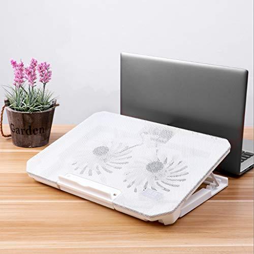 Base Portatil Base Refrigeradora 2 ventiladores silenciosos portátil portátil cojín de enfriamiento de 12-17 pulgadas juego de malla de acero Panel simple de gran tamaño de gran alcance con conexión U