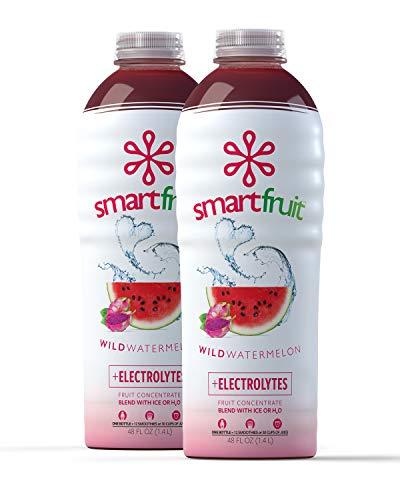 Smartfruit Wild Watermelon + Electrolytes, 100% Real Fruit Pure (Smoothie Mix) No Added Sugar, Non-GMO, No Additives, Vegan, Family Size 48 Fl. Oz