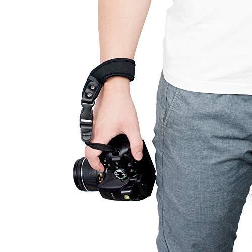 Sugelary Kamera Handschlaufe Neopren Kamera Handgelenkschlaufe Trageschlaufe für Canon Nikon Sony Fujifilm Olympus DSLR SLR (ST-1)