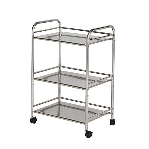 CLIPOP 3 Tier Stainless Steel Rolling Cart ,Kitchen Island Trolley with...