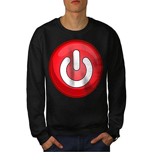 wellcoda rot Auf aus Schalter Mode Männer Sweatshirt Taste Lässiger Pullover