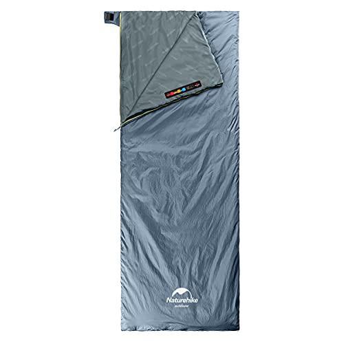Naturehike Saco de Dormir Ligero portátil Comfort Impermeable con compresión del Saco de Dormir Ideal para los Viajes de Camping y Actividades al Aire Libre Durante 3 Estaciones (Azul Oscuro L)