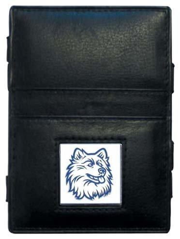 NCAA Siskiyou Sports Fanshop Connecticut Huskies Leder Jacob's Ladder Wallet One Size schwarz