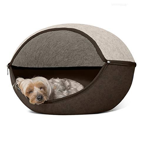 Furhaven Round Felt Dog Bed