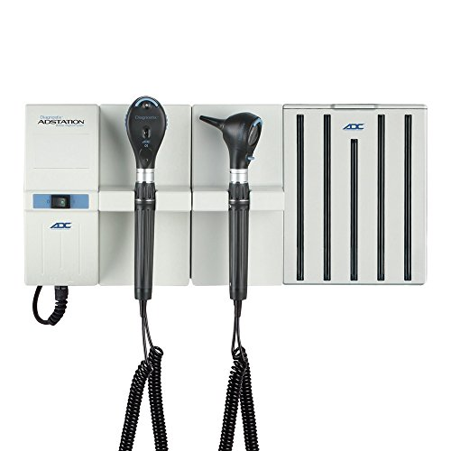 ADC - 5610L-3 Diagnostic Wall Set with 3.5V LED Otoscope, 3.5V LED Coax Ophthalmoscope, and Specula Dispenser