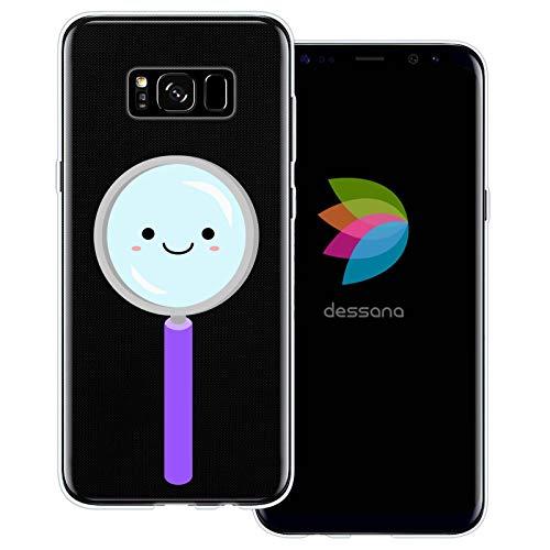 dessana Leuke wetenschap transparante beschermhoes mobiele telefoon case cover tas voor Samsung Galaxy S Note, Samsung Galaxy S8 Plus, Schattig vergrootglas.