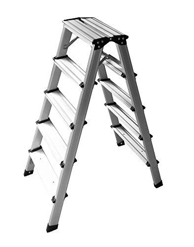 Professionele 6-14 treden aluminium ladder klimladder staande ladder vouwladder bokladder aluminium schildersladder 2x5 Sprossen