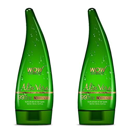 WOW Aloe Vera Multipurpose Beauty Gel for Skin and Hair,130ml (Pack of 2)