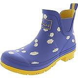 Joules Womens Wellibob Rain Boot, Blue Daisy, Size 8