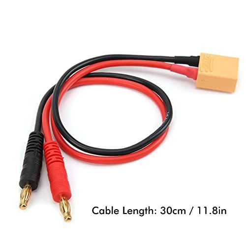 RC Ladekabel, RC LiPo Akkuladekabel RC 14AWG Adapterkabel XT90 Stecker auf 4mm Bananenstecker RC Silikon Ladekabel