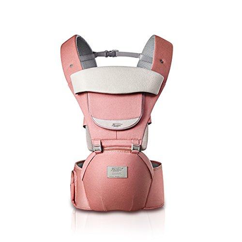 SONARIN 3 en 1 Toda La Temporada Transpirable Hipseat Baby Carrier, Portador de bebé,Ergonómica, Protección Solar, Multifunción,Fácil para Mamá,100% GARANTIZADO y ENTREGA GRATUITA, Ideal Regalo(Rosa)