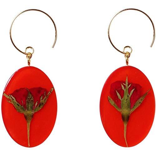 Wbeiba-Oorbellen-Damesoorbellen-Paars Zilver Hypoallergeen, Rode Chinese Stijl Planten, Kerst Oorbellen
