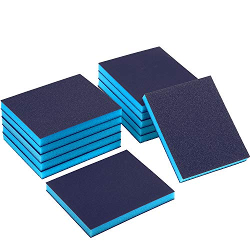 Sanding Sponge Grit Sanding Blocks, Washable and Reusable Sand Sponge Kit, 12 Pieces (Superfine Grade, Fine Grade, Medium Grade)