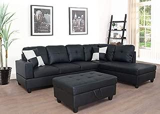 black contemporary sectional sofa