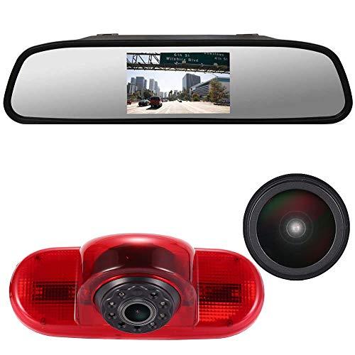 "im 3.Bremslicht Bremsleuchte Rückfahrkamera Rückfahrsystem+4.3\"" Zoll Rückspiegel für Opel Vivaro surf Concept/Life 2017/Combo/Vauxhall/Renault Trafic/FIAT Talento/Nissan Primastar"